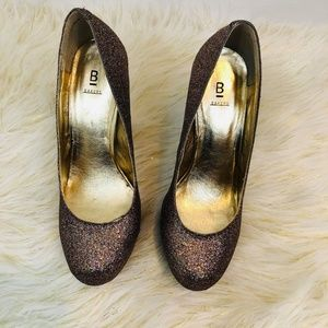 Bakers Glittery High Platform Heels Ladies Sz 7